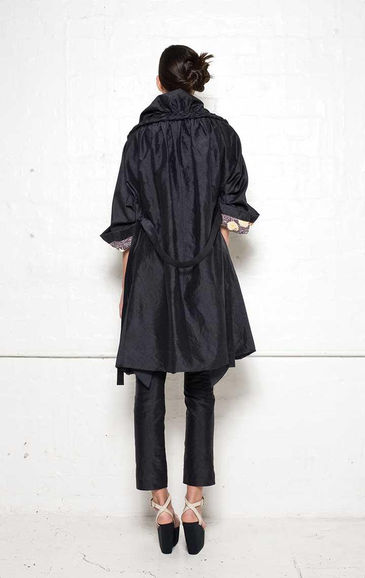 130/S09071 Coat Dress with Plaits    130/S06112A Narrow Pants