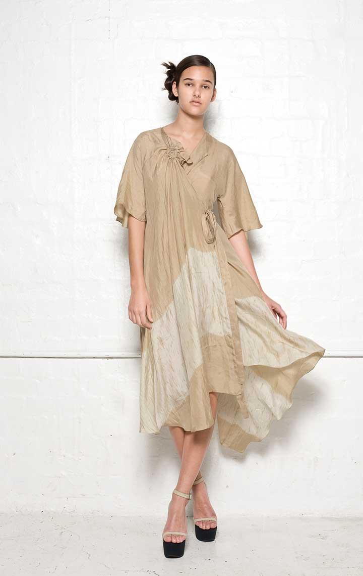 125/S01339B Spiral Shibori Wrap Dress