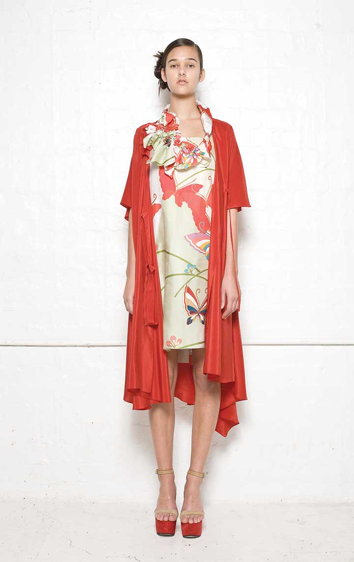 120/S01392A Strap Dress with Folded Back    110/S01339N Spiral Shibori Wrap Dress    120/S07392 Spiral Shibori Neckpiece