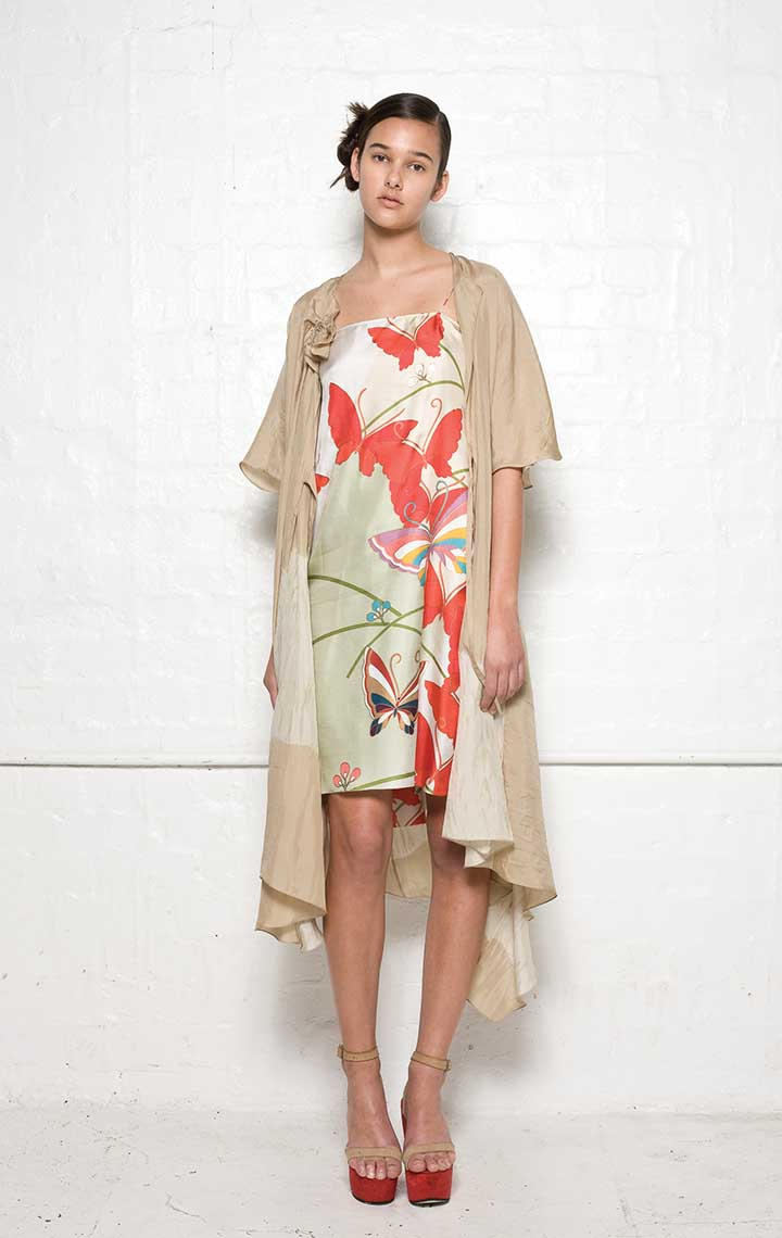 120/S01392A Strap Dress with Folded Back    110/S01339B Spiral Shibori Wrap Dress
