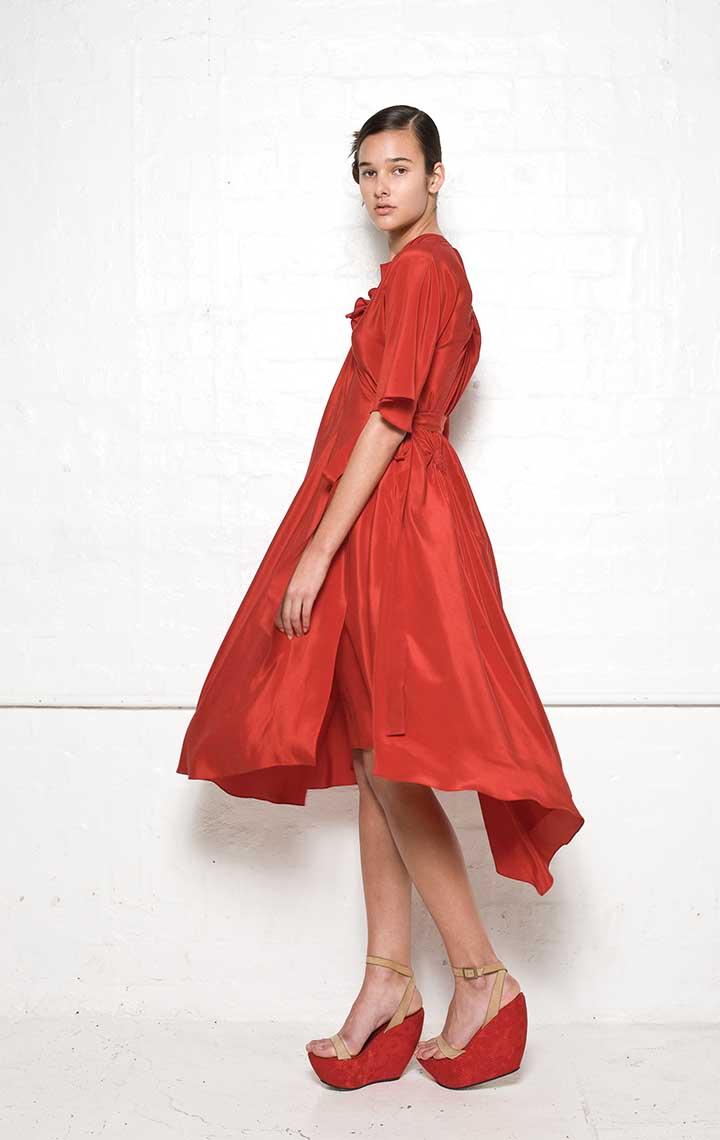 110/S01339N Spiral Shibori Wrap Dress