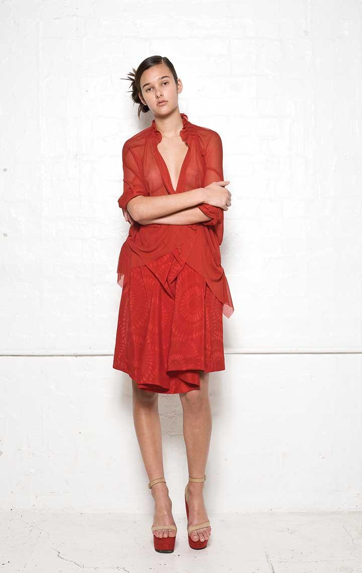 155/S08163S Gathered Bolero    115/S05203S Origami Back Skirt