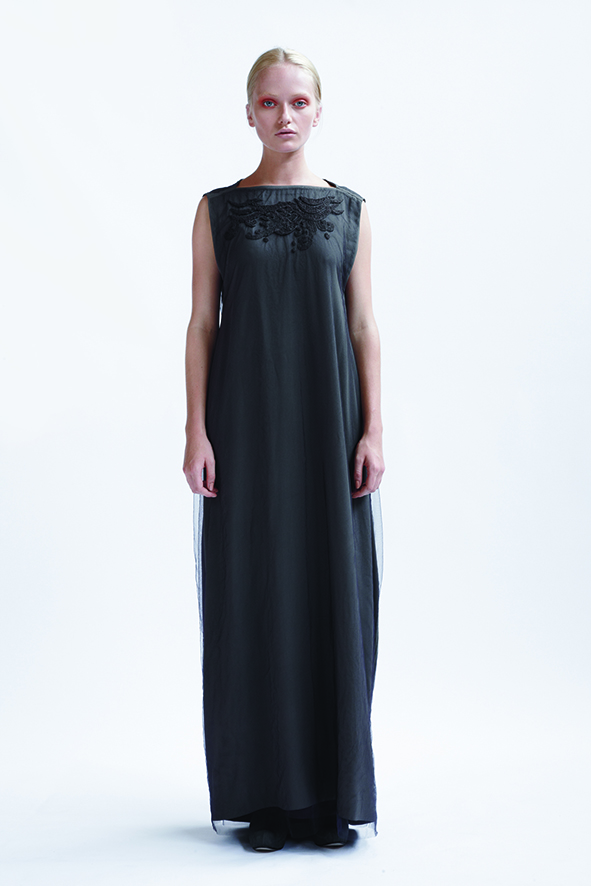 105/A01407L Cocoon Long Dress