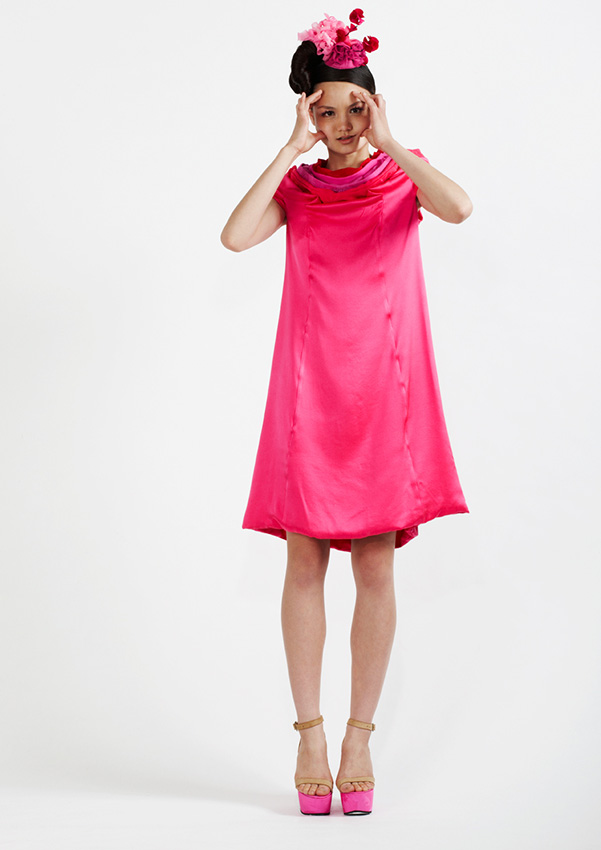110/S91320 Wide Petal Neck Dress