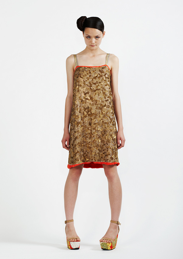 115/S91335A Metal Sequin Strap Dress