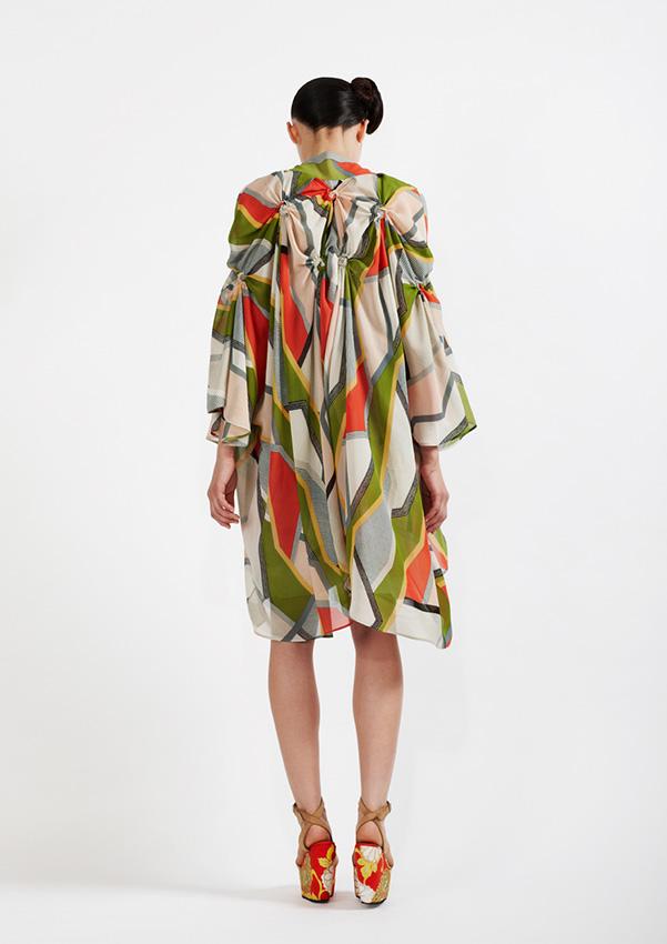 175/S99060 Spiral Shibori Printed Kimono Coat