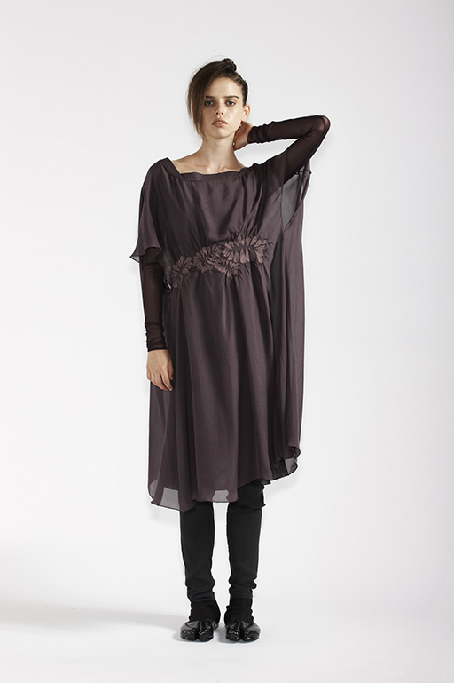 105/A91366 Gathered Embroidered Waist Dress    210/A93290 Long Sleeve Tunic    210/A9686T Tulle Leggings