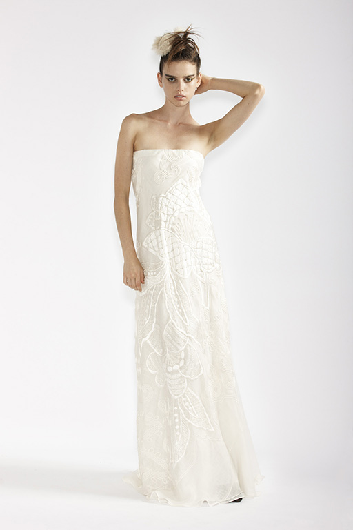 100/A91360 French Embroidered Bridal Dress