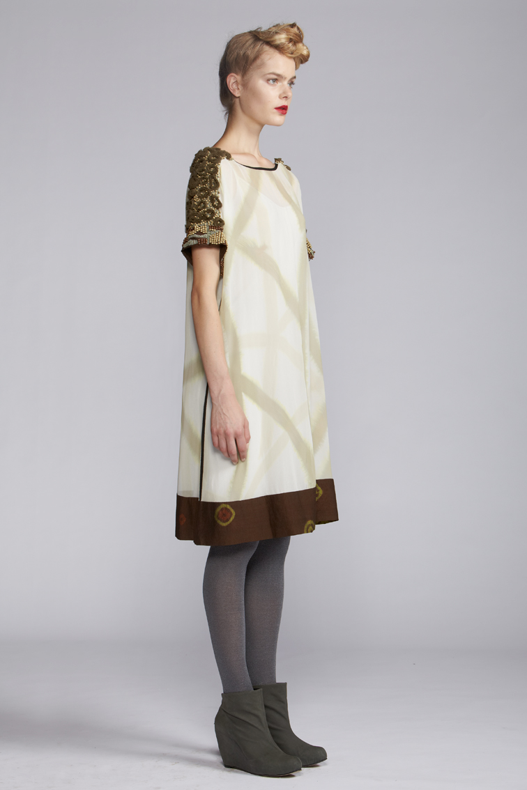 400/A120126 Panelled Tunic with Slip