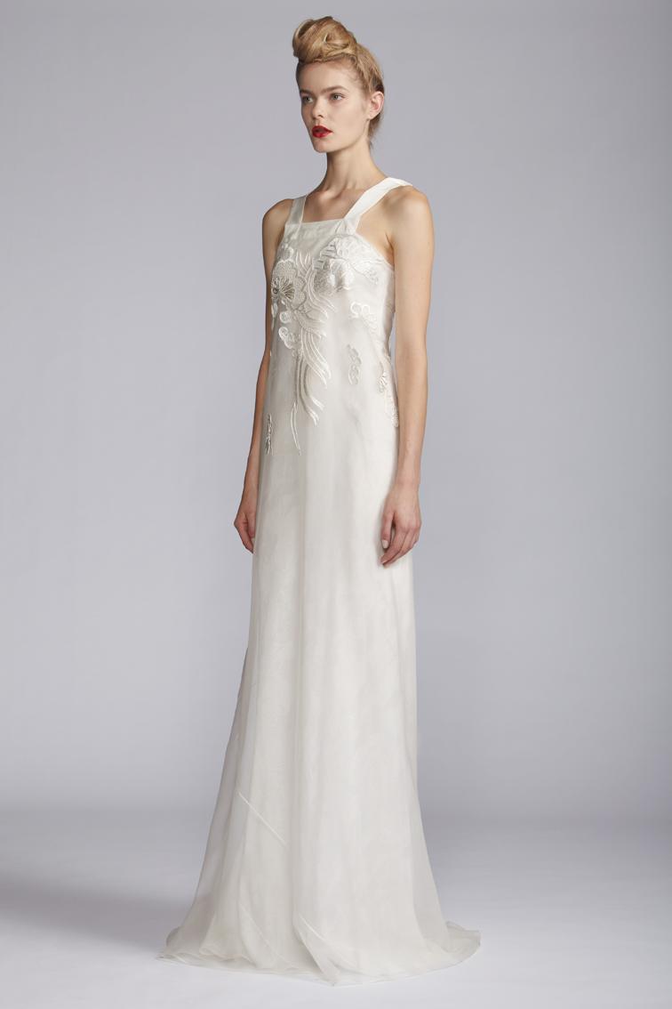102/A121509 Long Square Strap Dress
