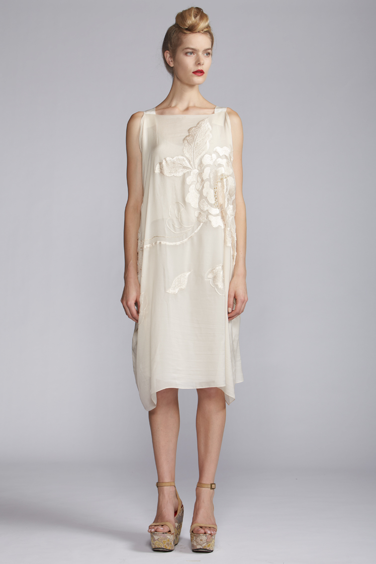 100/A121511 Rectangular Dress with Slip