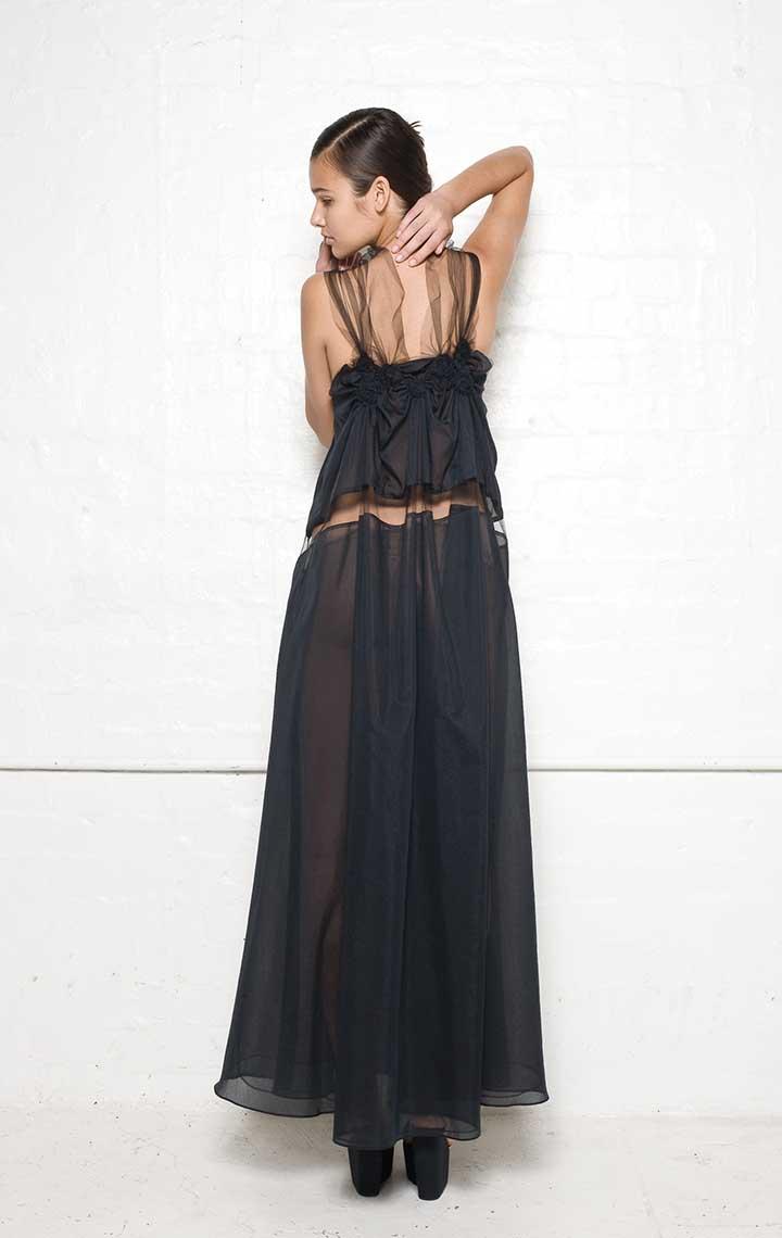 150/S01393 Spiral Shibori Long Dress