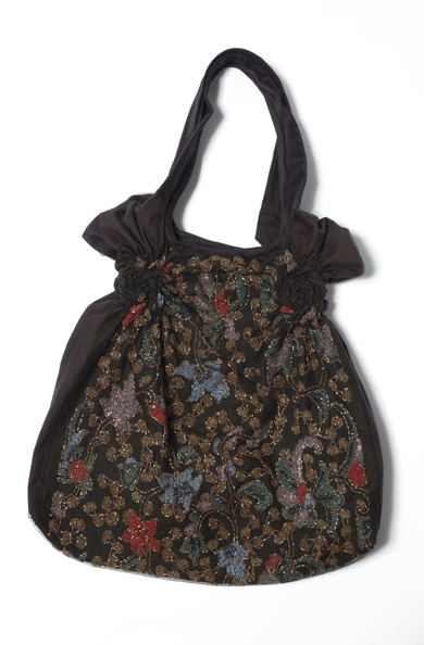 900/F07423 Beaded Spiral Shibori Bag