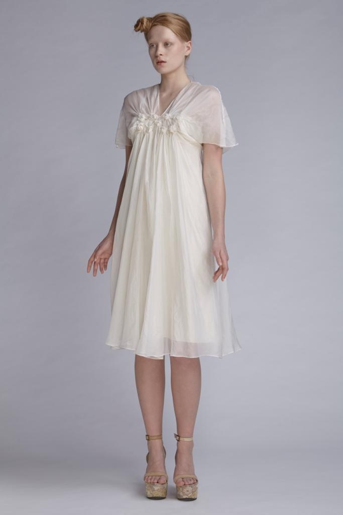 105/A141546 Spiral Shibori Cloud Dress with Slip