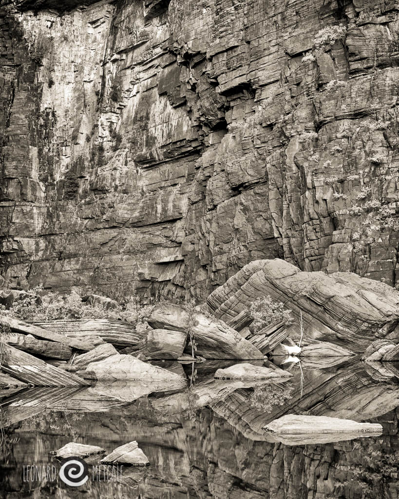 Jim Jim Falls, Kakadu, The Northern Territory, 4 x 5 film © Leonard Metcalf 2015