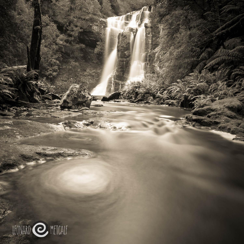 Wes Becket Falls, The Tarkine, Tasmania © Len Metcalf 2015