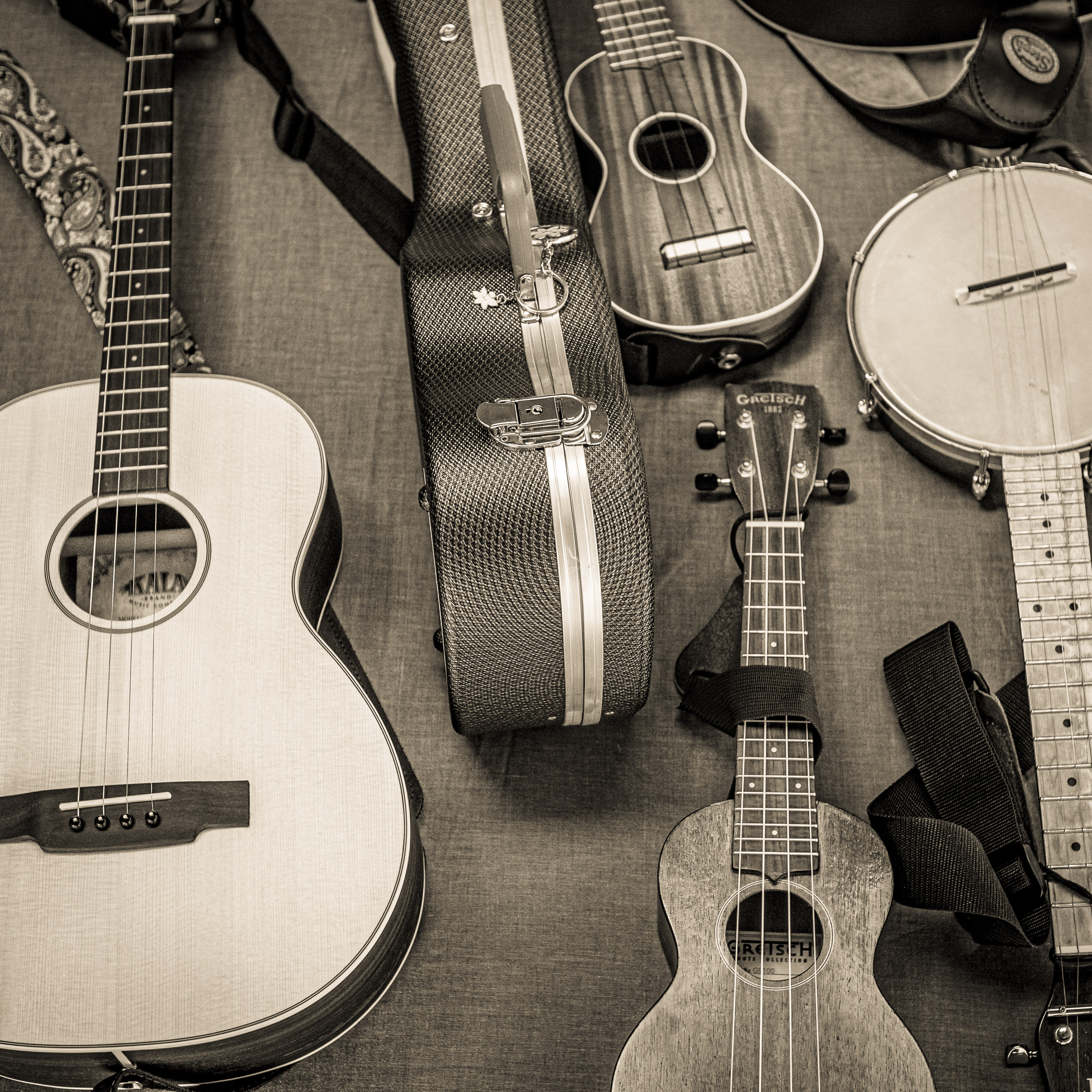 Four musical instruments