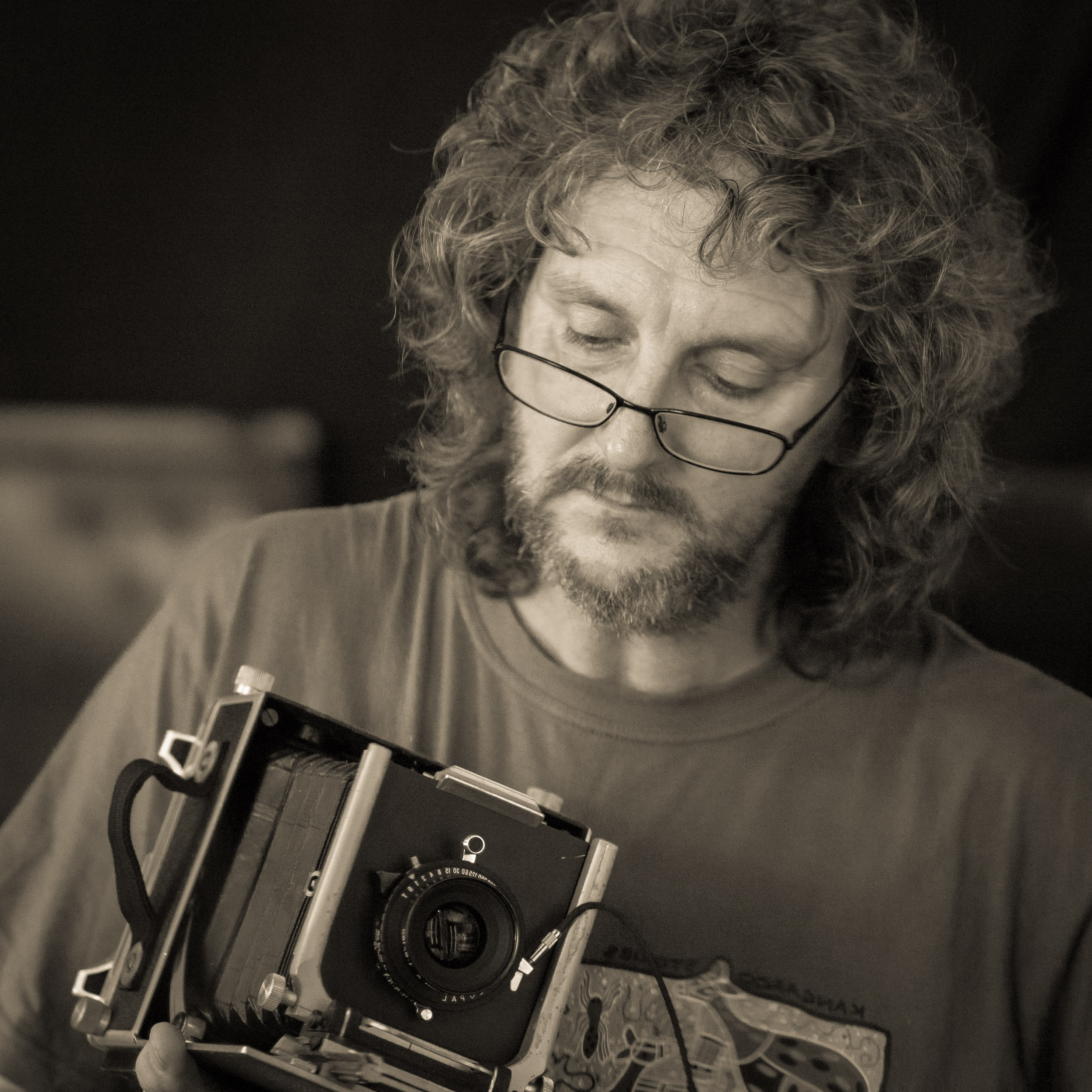 Self portrait with Linhof Technica 3 - Something for my website taken five or more years ago