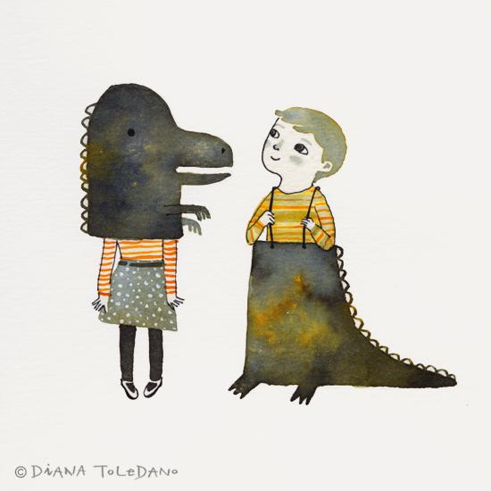 Halloween Illustration 2013 by Diana Toledano