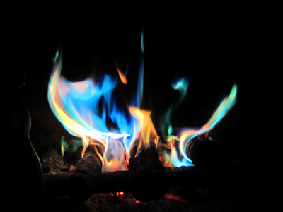 """Blue fire"" photograph by Diana Toledano"