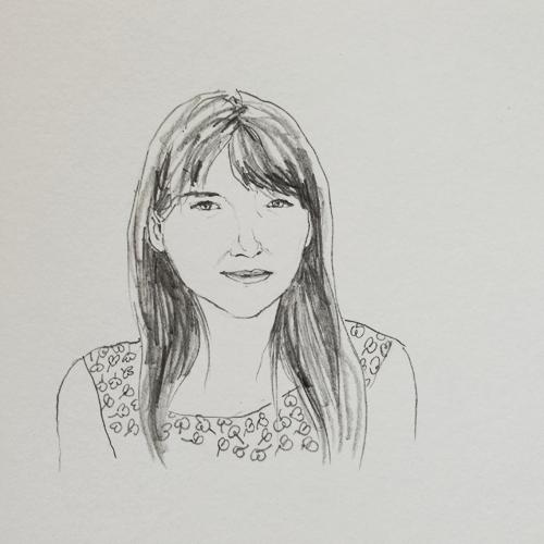 women portrait pencil sketch by Diana Toledano