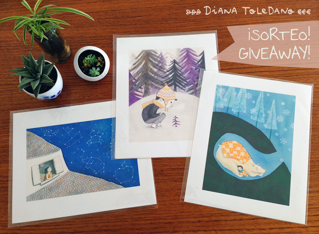 high quality art prints giveaway by Diana Toledano