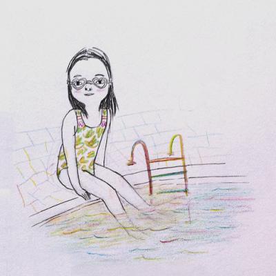 Love Swimming Illustration by Diana Toledano