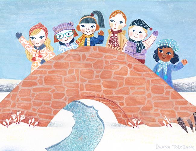 diana-toledano_snowy-day_bridge-friends.png