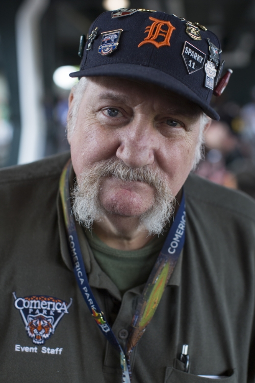 Harold Dore has worked as an usher since 2003. He collects commemorative pins and puts some of them on his hat. He has received pins from the FDNY, Heinz, the Blue Jays and many more. Someone once offered to buy his hat and asked him how much he'd sell it for. His price: $1000.