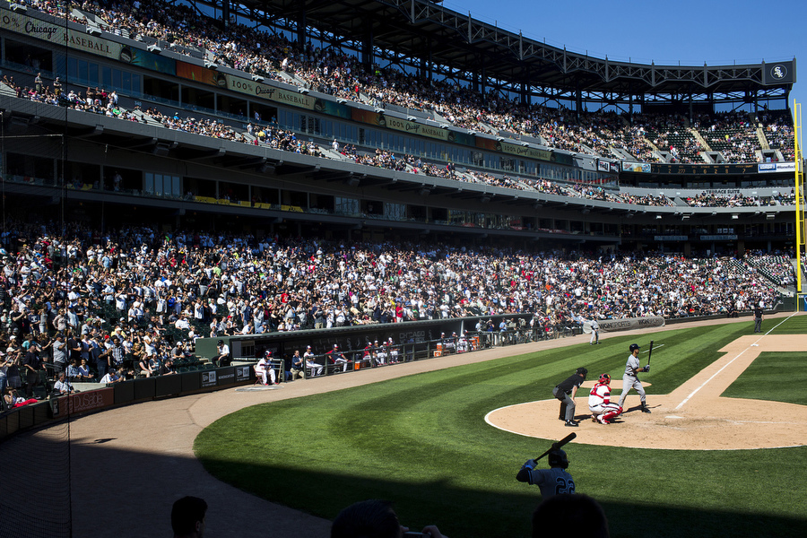 Derek Jeter stands in for his last at-bat ever in Chicago.