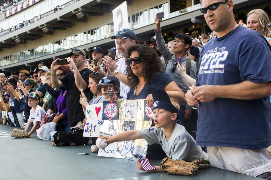 Jeter fans.