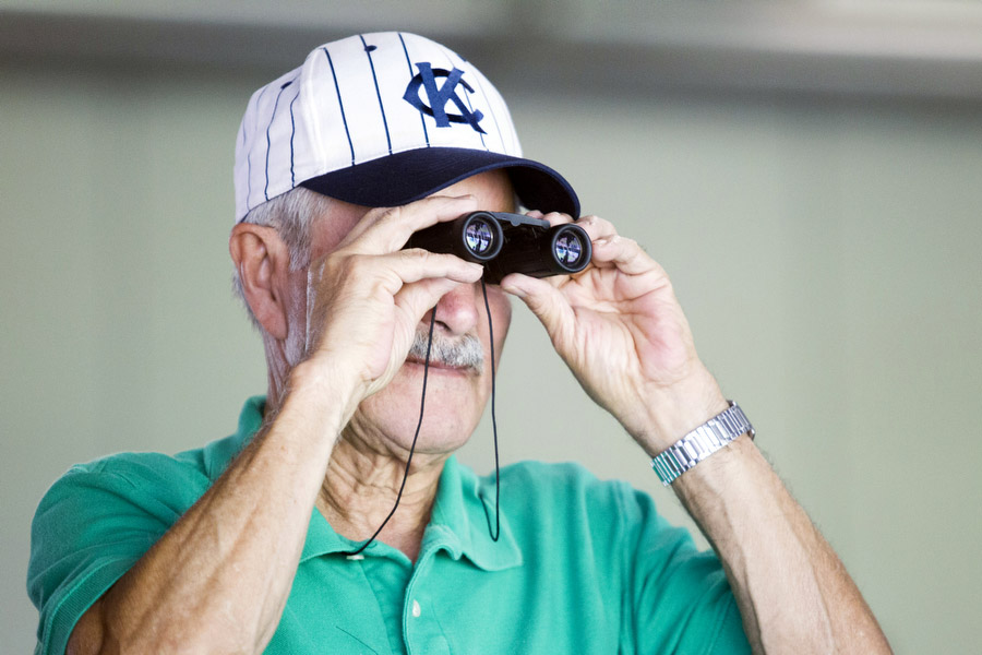 """Tony Fuentes, 73, has been coming to Royals games since the team's inception in 1969.""""Win or lose, I'm with 'em,"""" he said."""