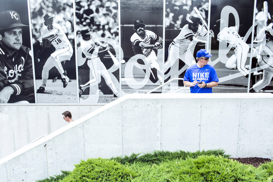 The outside of the Royals Hall of Fame.
