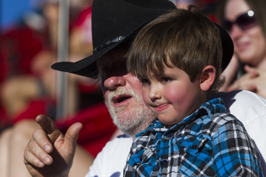 John Riggle attended the game with his grandson Tristan Riggle.