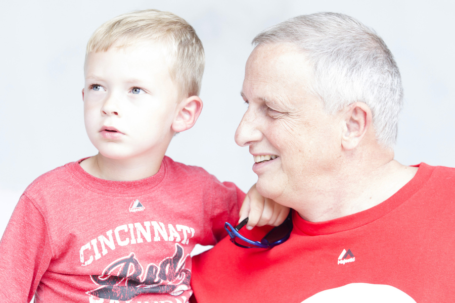 Grandson and grandfather. Permission to photograph given, but names were not.