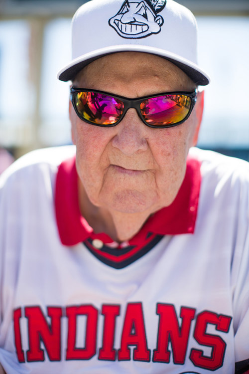 Duane Wrye, a man who attended his first Indians game in 1964, came to Sunday's game to celebrate his 88th birthday.