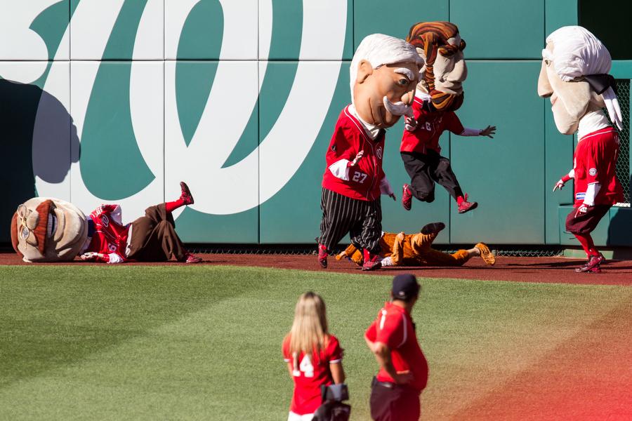 The presidential mascot race got feisty.