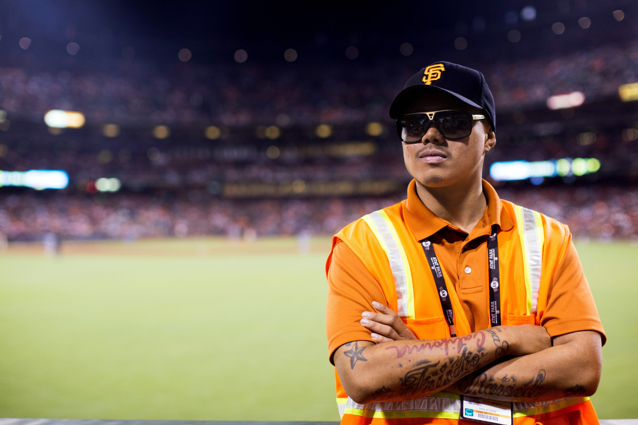 Paul is an usher from San Francisco. He's in his first season with the Giants and said he's really loving it. His last job was working atMcDonald's.