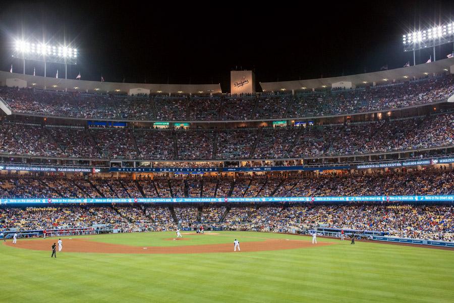 Dodger stadium has the highest capacity of any MLB stadium.