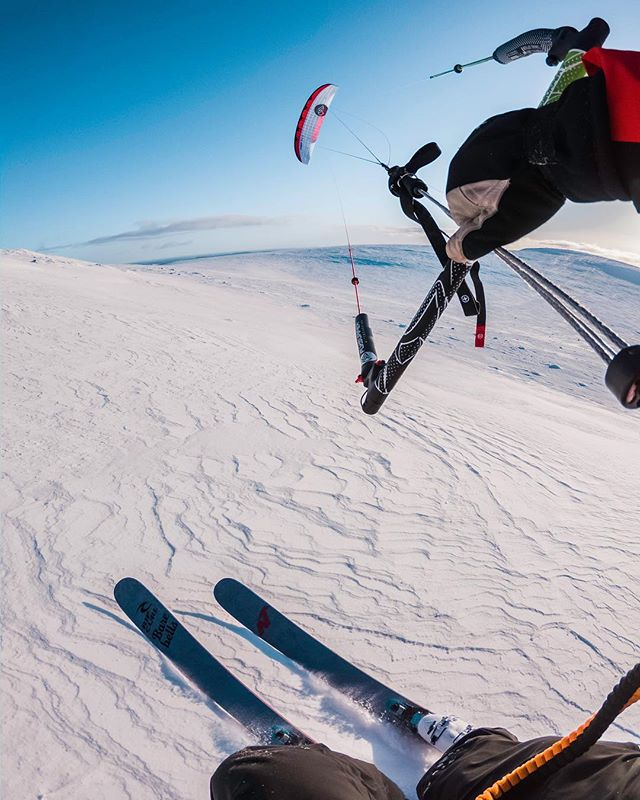Unreal #snowkite image from @ville.petter in Finland taken with #goprohero7 & #dummymount!!