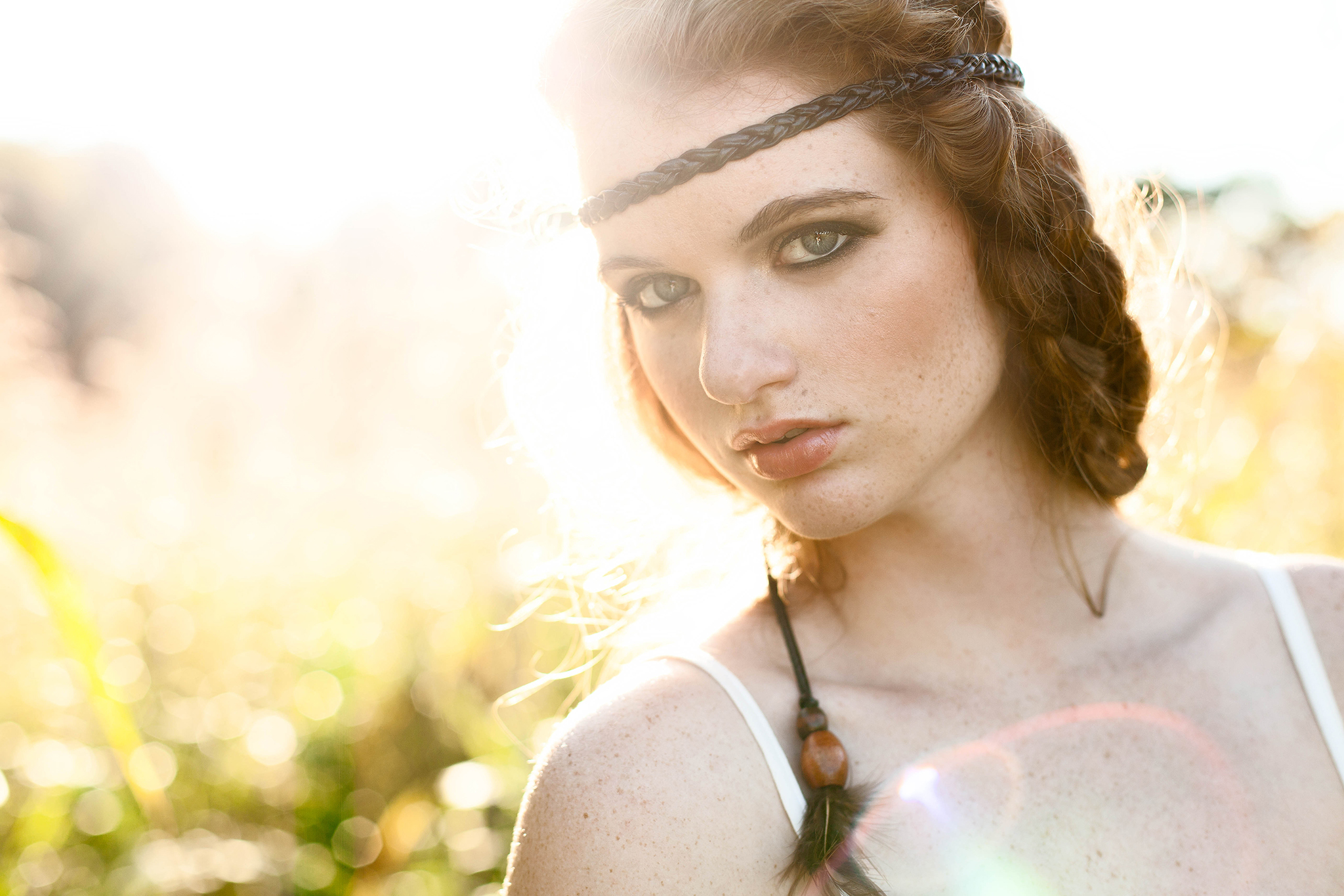 Hannah Wilmes | Hannah's mood board had a very airy, bohemian feel to it. We got really lucky the day of her shoot, since the weather and light wereperfect for more ethereal, backlit images.