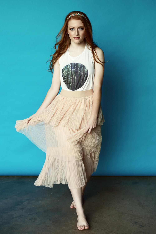 Top & Skirt: Molly Green