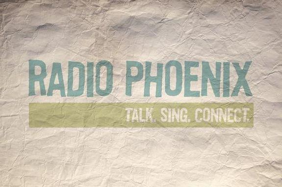 Inside the Phoenix Center for the Arts. Downtown Phoenix.  The valley's community radio station.