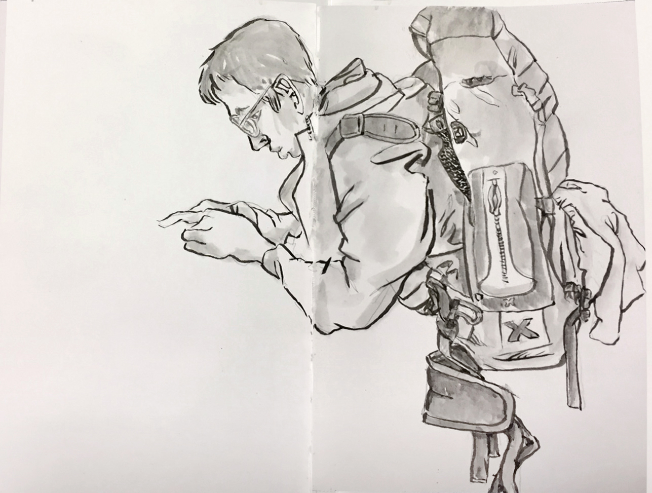 Urban sketchers backpacker