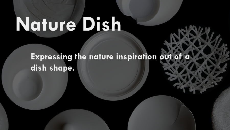 Nature Dish  :  Expressing the nature inspiration out of a dish shape.