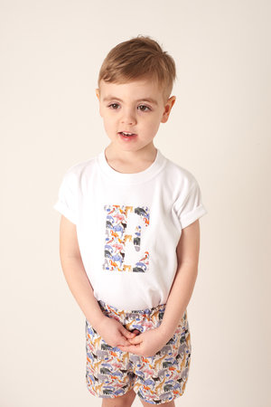 e803ed899 Personalised White Cotton Tee in