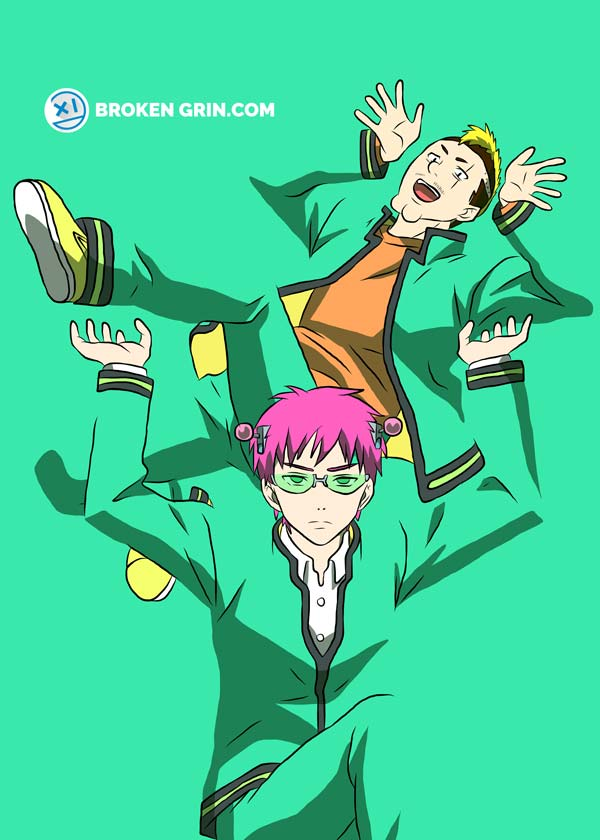 The Disastrous Life of Saiki K. Pop Art - Featuring Sikik and Nendo