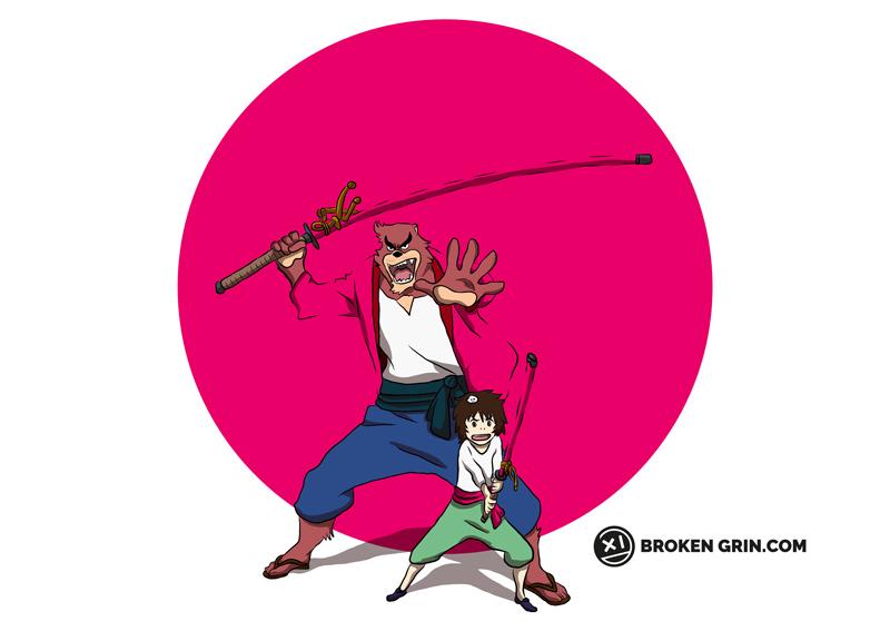 The Boy and The Beast Pop Art - Featuring Kumatetsu and Kyuta