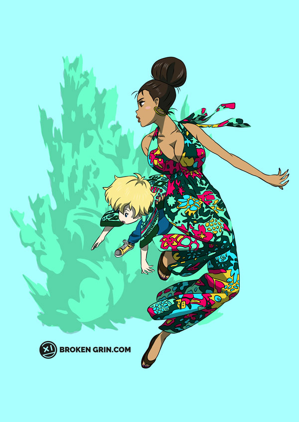 Michiko and Hatchin Pop Art - Featuring… oddly enough Michiko and Hatchin