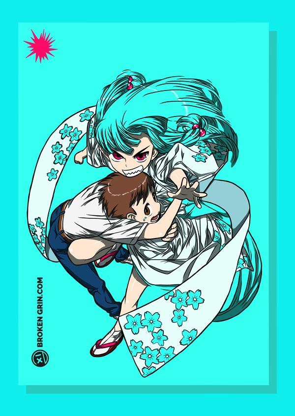 Tsugumomo Pop Art - Featuring: Kazuya and Kiriha